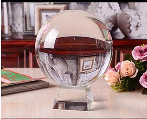 WDDqzf Skulptur Figur Dekoration Statuen 8 cm Fotografie Kristallkugel Ornament Fengshui Globus Divination Quarz Magische Glaskugel Für Home Office Hochzeit Dekor Kugel - Quarz-kristall-globus