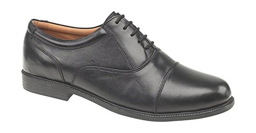 Amblers Mens London Soft Leather Lined Oxford Style Shoe Black Black
