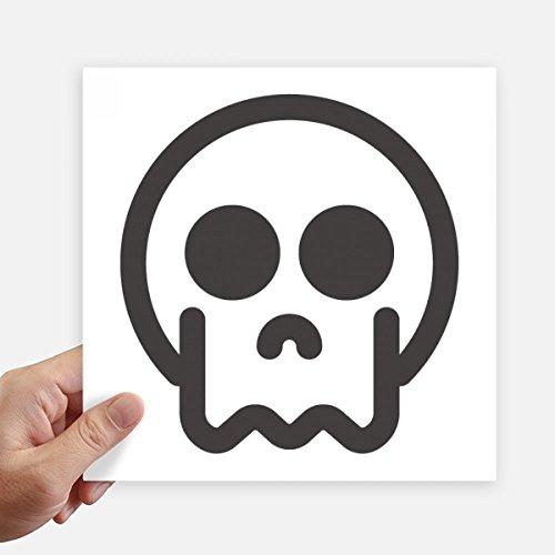 DIYthinker Skeleton Online Chat Emoji Quadrataufkleber 20Cm Wand Koffer Laptop Motobike Aufkleber 4Pcs 20Cm X 20Cm Mehrfarbig