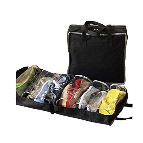 Fami Scarpe portatili di viaggio di immagazzinaggio dell'organizzatore del sacchetto Tote Deposito Carry Pouch Holder (BK) - Giardino Strumenti Carry Bag