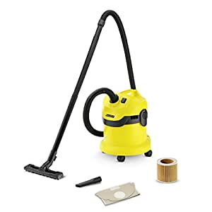 Karcher WD2 Tough Vac, Wet and Dry Vaccum Cleaner - Yellow