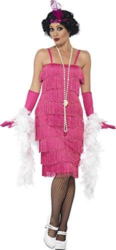men Flapper Kostüm, Größe: 52-54, rosa (Krimi Kostüm Party)