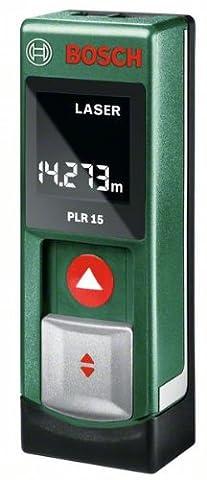 Bosch 0603672001 Laser Distance Meter PLR 15 0.15-15 m Measuring Range +/- 3 mm Measuring Accuracy