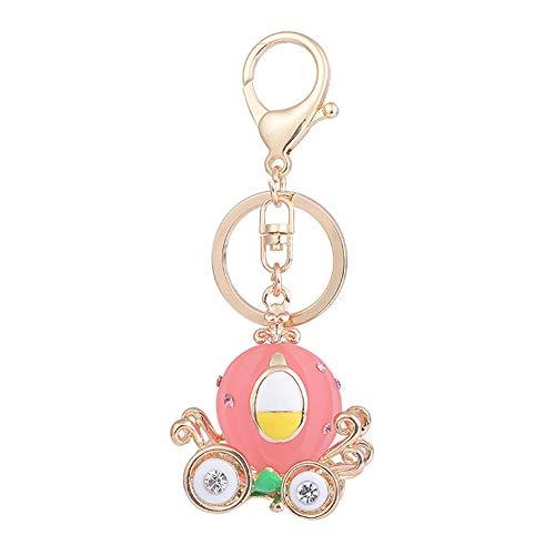 Gold-ton, Valet (Liuzecai Schlüsselring Keychain Auto Weiblichen Beutel Ornamente Exquisite Harz Kleines Geschenk Anhänger Cartoon Kreative Kürbis (Farbe : Rosa))