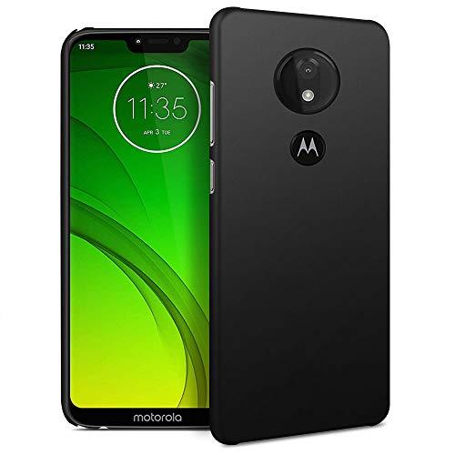 RIFFUE Hülle für Moto G7 Power Hülle, Motorola Moto G7 Power Handyhülle Schutzhülle Case Ultra Dünn Matt Hard Stoßfest Anti-Scratch Federleicht Rückschale [Schwarz] (Phone Case Motorola Ultra)