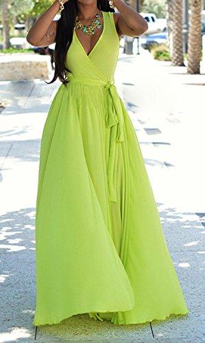 Femmes Robes D'Été Longues Chic D Été A Bretelles Ample Transparente Classiques Robe De Plage Vintage Casual Robes Casual Vert