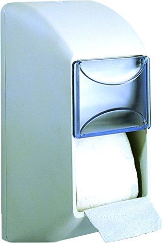 Nofer 05099 Distributeur de Rouleau de Papier Double ABS Blanc 16 x 16 x 31 cm