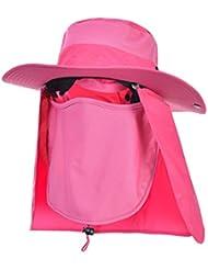 Hisea Extérieur Hommes Chapeau de Pêche Chapeau de Soleil Respirant Pêche Casquette Protection Hat pour Trekking Randonnée pédestre chasse Pêcheur Anti-UV UPF50 +