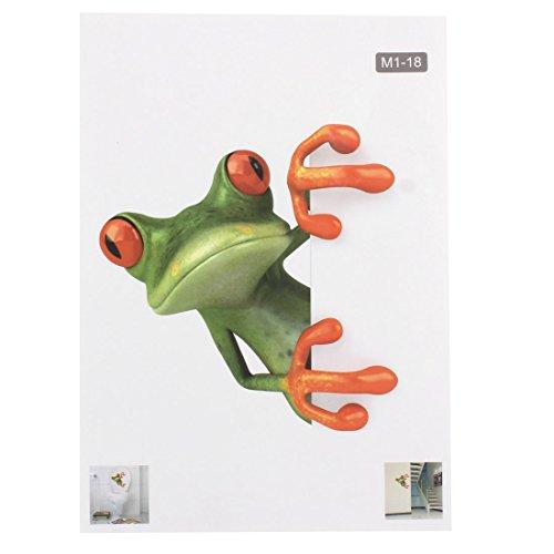 sourcingmap® Bad PVC Cartoon Frosch entfernbar wasserdicht Toilette Klodeckel Aufkleber