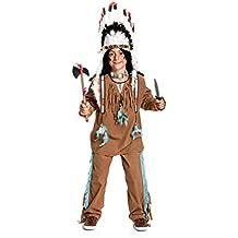 Kostümplanet® Indianer-Kostüm Kinder Jungen Kinder-kostüm Wilder Westen Fasching Größe 128 140 152