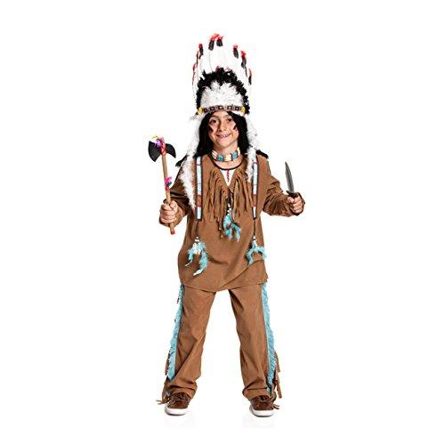 Indianer Junge Kinder Kostüm - Kostümplanet® Indianer-Kostüm Kinder Jungen Kinder-kostüm Wilder Westen Fasching Größe 128