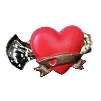 Perde Tokası Kırmızı Kalp 5'li Paket - GARDINIA