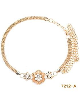 Cadena De La Cintura Del/Versión Coreana,Metal,Flores,Cinturón/Vestido Con Correas De Cadena Decorativa