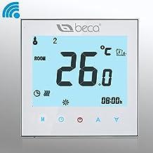 Beca 95~ 240VAC memoria de datos digital 5+ 2seis períodos semanal programable 16A WiFi/WiFi/Smart/Internet/Red/Android/iOS eléctrico calefacción por suelo radiante Termostato DE habitación, 220.00 voltsV