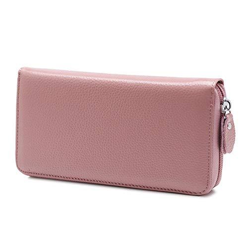 dreamcs Frauen Geldbörse Leder Brieftasche Geldbörse Brieftasche Münze Geldscheinklammer Kreditkarte schlanke Brieftasche@Sojamehl -