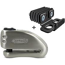 Antirrobo disco con alarma Suzuki Bandit 650 05-14 Artago 32 + Soporte K200