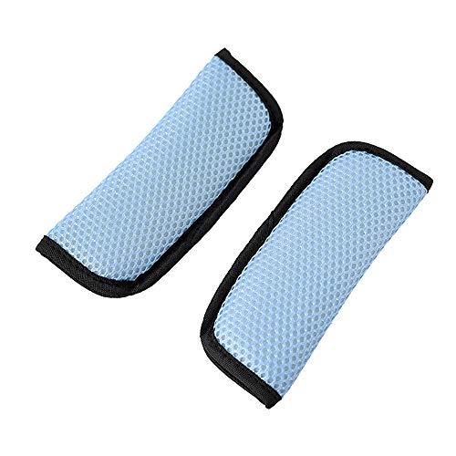 Kindersitz Gurtpolster, Auto Gurt Schutz Weiche Sicherheitsgurt-Auflagen Sicherheit für Säuglings-Spaziergänger-Sportwagen-Sicherheitsgurt(Himmelblau 18 * 6cm)