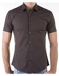 KAYHAN chemise pour homme coupe slim 10 coloris au choix pour femme s-xL -  Blanc - Medium