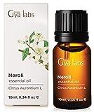 Neroli (Egipto) - 100% puro, sin diluir, natural y terapéutico grado para difusor de aromaterapia, piel sana y relajación 10ml - Gya Labs