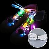 strimusimak Paire de Lacets LED Flash en Nylon pour Chaussures de Sport et Chaussures de Loisirs 120 cm Five Color
