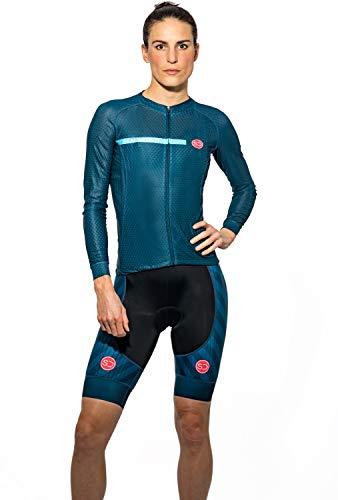 Sundried Womens Pro Bereich Radfahren Jersey Kurzarm-Fahrrad-Hemd für Straßen-Fahrrad Profi Zyklus-Abnutzung (blau, S)