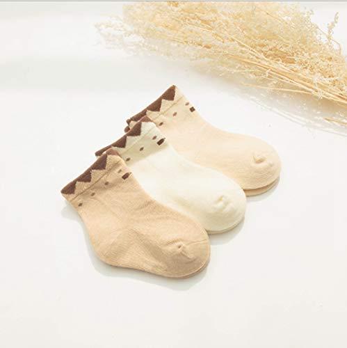 DCPPCPD Socken Kinder Babys Reine Baumwolle 3 Paare Lose Sperrige Midbarrel 0-1-3 Jahre Alt, S -