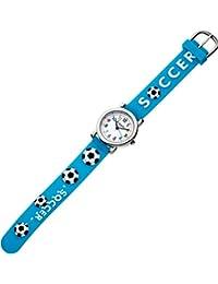 da22eac25170 Eichmüller – Reloj Infantil analógico Reloj Azul Reloj de Pulsera Acero  Inoxidable Diseño Silicona Balón de