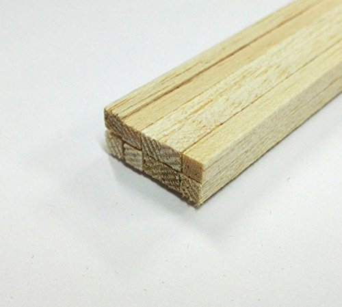 Balsa Stripwood 9 x 9 x 457mm Bundle of 10 by Hobbies