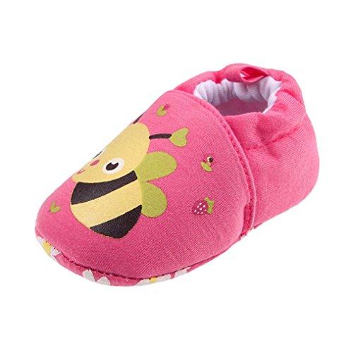 JERFER Schöne Kleinkind erste Wanderer Babyschuhe Runde Kappe Wohnungen Weiche Hausschuhe Schuhe 6-12M (9-12M, C) - Größe High-tops 3 Schuhe Mädchen Baby