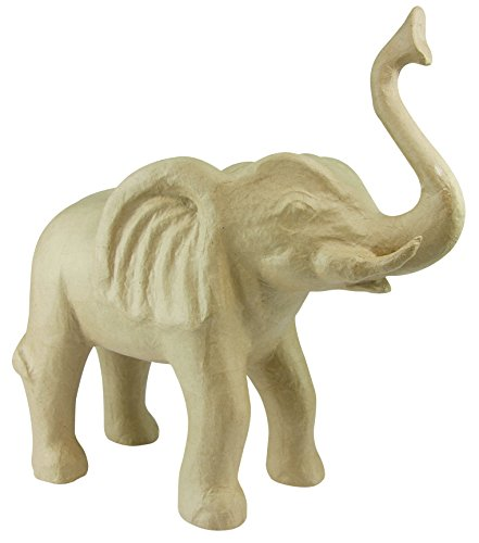 äger L aus Pappmaché, Elefant, 47,5 x 20 x 50 cm, zum Verzieren, Kartonbraun (Paper Crafts Halloween-dekoration)
