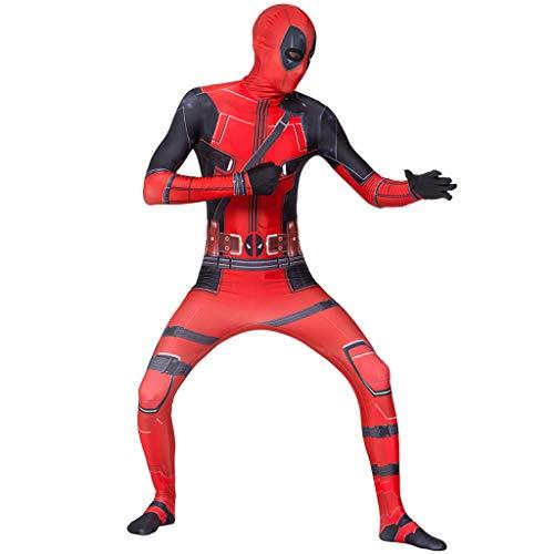 YKJL Cosplay Kostüm Overalls Deadpool Thema Party Kostüm Bodysuit Strumpfhosen Stage Performance Outfit Halloween Erwachsene Rolle Spielen Kleidung,Adult,S (Deadpool Kostüm Spiel)