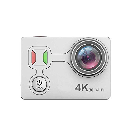 wasserdichte Digitalkamera mit Touch Screen 4K/25fps HD Video 12MP Fotos Live-Streaming-Remote Control Sports Camera mit Zubehör Kit,Silver -