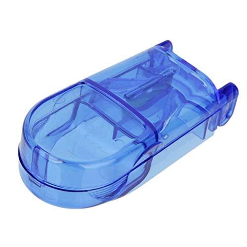 Poualss Pill Splitters Pill Cutter mit V-Griff für kleine und medikamentöse Splitter Aufbewahrungsbox Medikamentenkapselhalter (blau) - A/v-splitter
