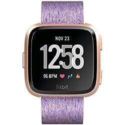 Fitbit Versa Special Edition, Montres connectées forme, sport & bien-être: + de 4 jours d'autonomie, étanche, suivi fréquence cardiaque, Lavande