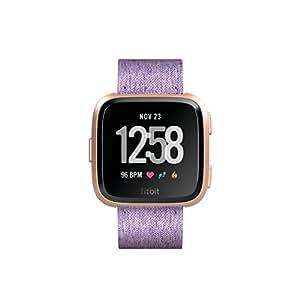 Fitbit Versa, Smartwatch con Funzione di Activity Tracker Unisex – Adulto, Viola, One Size