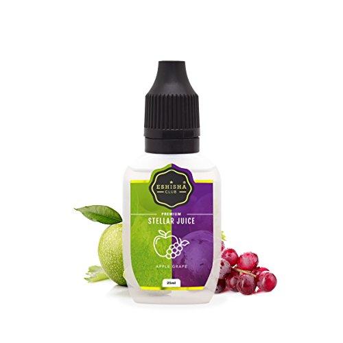KNUQO STELLAR Juice 25ml - Apfel Traube-Geschmack | e-Zigarette | e Shisha eLiquid Flasche | Wiederaufladbare Elektronische Zigarette Liquid | Nikotinfrei | e Shisha | eShisha Club
