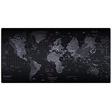 Cmhoo, tappetino XL per mouse e PC, di grandi dimensioni, adatto per giochi al computer 90x40 Map