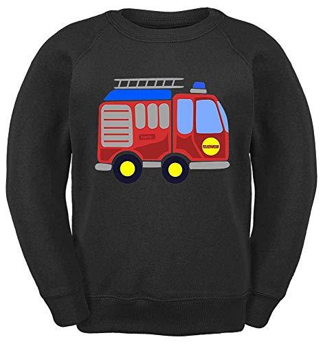 HARIZ Kinder Sweater Feuerwehr Auto Bagger Eisenbahn Plus Geschenkkarte Schwarz 164/14-15 Jahre -