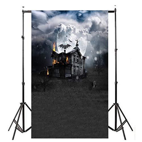 der Kulisse Fotografie Bildhintergrund Backdrops Hintergrund Foto Props für Studio Party Halloween Kulissen Kürbis Vinyl Laterne Hintergrund Fotografie ()