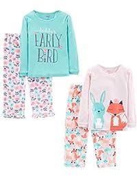 Simple Joys by Carter's 4-Piece Pajama Set Niñas, Pack de 4