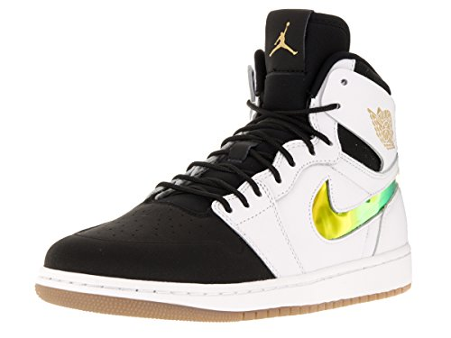 Nike Air Jordan 1 Retro High Nouv, Chaussures de Sport Homme, Taille Multicolore - Negro / Blanco / Marrón (White / Black-Gum Light Brown)