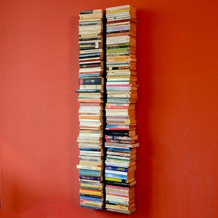 Radius - booksbaum Double/Bücherregal - Wand Gross Schwarz, 2tlg. Best.aus: Halterung + Einlegeböden (Standard-bücherregal)