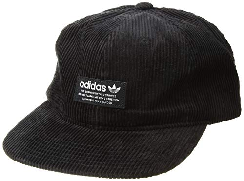adidas Herren Originals entspanntes breit Whale Strapback Hat, schwarz/weiß, Einheitsgröße Wide Wale Corduroy