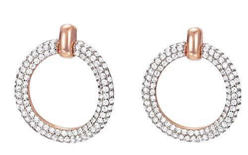 ESPRIT Glamour Damen-Ohrstecker ES-PERIBESS ROSE teilvergoldet Zirkonia transparent - ESER02690C000