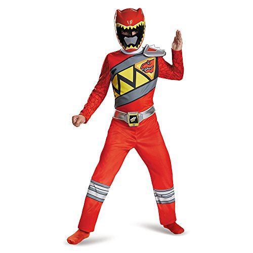 Power Rangers Dino Charge Red Classic Child Costume 4-6 (Dino Charge Red Ranger Kostüm)