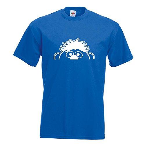 KIWISTAR - Halber Ernie T-Shirt in 15 verschiedenen Farben - Herren Funshirt bedruckt Design Sprüche Spruch Motive Oberteil Baumwolle Print Größe S M L XL XXL Royal