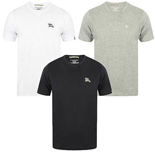 Tokyo Laundry Herren 3er-Pack Einfarbig Gekämmte Baumwolle T-Shirt Oberen Ebene Mix Farben 1Q10427 WILLWOOD