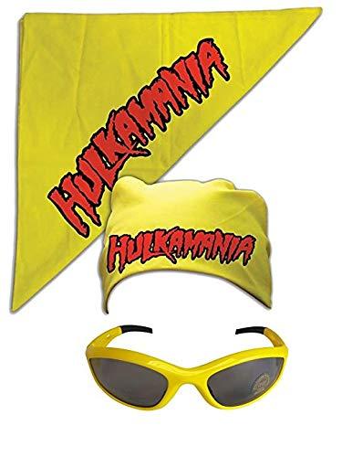 Unbekannt Kostüm Sonnenbrille Kopftuch Hulk Hogan Hulkamania Gelb