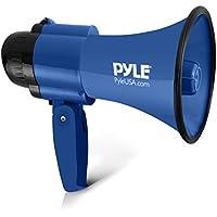 Pyle Haut-Parleur Portable Avec Mégaphone 30 Watts Siren Bullhorn Compact ET Alimenté Par Batterie, Microphone, 2 Modes, Son De Protection Et Poignée Pliable