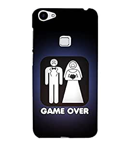 Fiobs Designer Back Case Cover for Vivo X7 (Message Quote Man Woman )